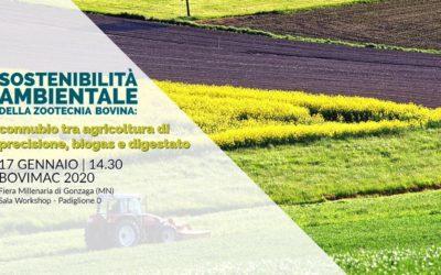 Sostenibilità ambiantale della zootecnia bovina: connubbio tra agricoltura di precisione,biogas e digestato.